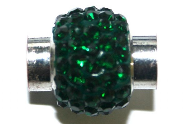 1pce x 17mm*14mm Emerald green stone Pave Crystal magnetic clasps -